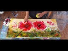 Image result for tutorial on how to paint a poppy flower