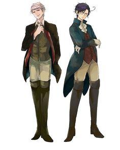 Prussia and Austria Hetalia. Prussias suit oh gods