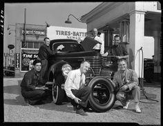 Everrett E. Sterling filling station and tire shop, Burbank, 1939.  via USC