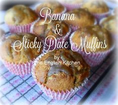 Banana and Sticky Date Muffinsfrom The English Kitchen