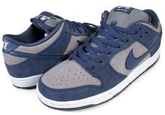 Nike SB Dunk Low-Thunder Blue-Cool Grey-White