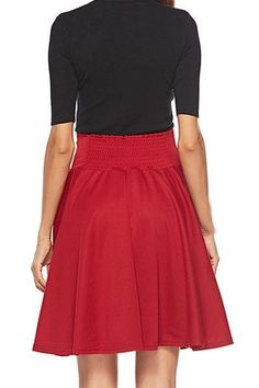 Solid Color High Waist Skirt – streetstyletrends   #outfitwithskirt#winterskirtoutfits#skirtshoes#skirtandtopoutfits#stylesskirts