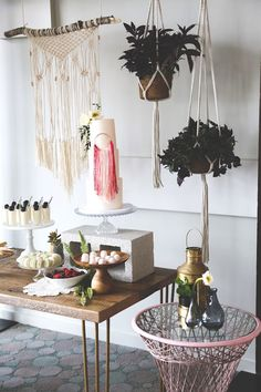 Cake + Sweet Table from a Stay Wild My Child Boho Baby Shower via Kara's Party Ideas   The Place for All Things Party! KarasPartyIdeas.com (20)