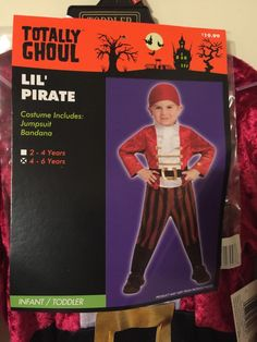Boys Pirate Costume Toddler Size 4 6 Renaissance Birthday Theme | eBay