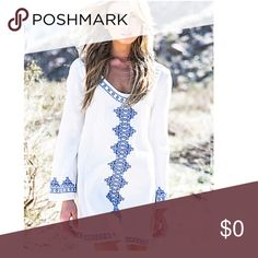 The Angelina Boho tunic dress/coverup, NWT A beautiful lightweight tunic with an ethereal feel. Just makes me long for summer & the beach. Dresses
