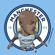 Manchester City No.18 Fabian Delph Fan Art