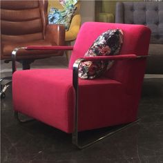 """With a plush bright PINK velvet finish, this armchair is a real showstopper. Perfect solution for any space seeking an awesome """"POP"""" of colour. Upholstered Arm Chair, Commercial Furniture, Pink Velvet, Cool Chairs, Color Pop, Colour, Tub Chair, Design Your Own, Seat Cushions"""