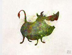 Pumbaa splatter art