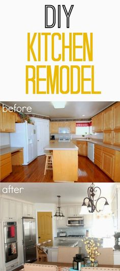 DIY Kitchen Remodel from TheHowToCrew.com.  See all the details of our kitchen remodel! #diy #kitchen #remodel