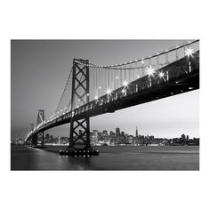 Art.com Wall Mural - San Francisco Skyline, Black