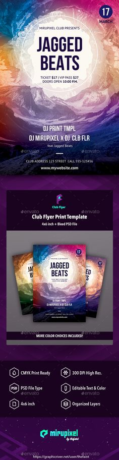 Grand Opening Club Flyer  FontsLogosIcons    Club