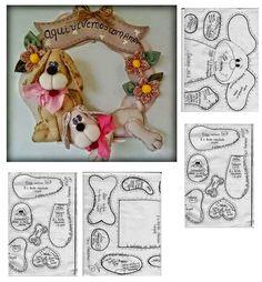 dog pattern , just so cute Felt Crafts, Fabric Crafts, Sewing Crafts, Sewing Projects, Projects To Try, Diy Crafts, Fabric Animals, Felt Animals, Felt Patterns