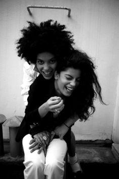 Cuban-French twin sisters Lisa-Kaïndé and Naomi Diaz. Makers of the band Ibeyi. Photos via ibeyi.fr
