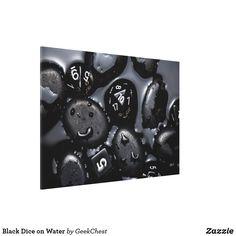 Black Dice on Water Canvas Print