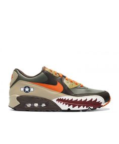 separation shoes ab641 9337c Air Max 90 Premium Warhawk Dark Army, Orange Blaze-Dark Cinder-Tweed 315728