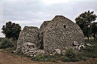 Les Bories groupe 4 arrière de la resserre et de l'étable bergerie - Vaucluse