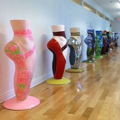 Giant Pointe Shoe Sculptures in the National Dance Museum. Note: I would like to visit there someday!