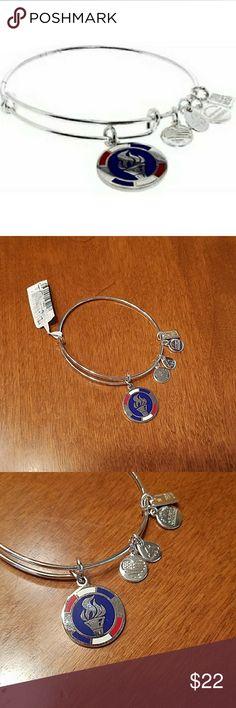 Alex and Ani Team USA bracelet silver new This bracelet is brand new with tags. Team USA Olympics symbol. Alex and Ani Jewelry Bracelets