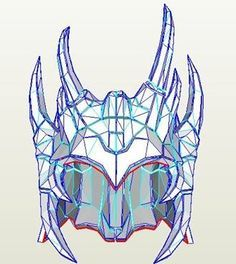 Skyrim - Dhovakin Daedric Helm Pepakura File on Onekura. Make your own costumes and accessories.