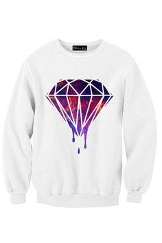Galaxy Melted Diamond Sweatshirt | Yotta Kilo