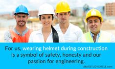 Safety first Tech Quotes, Safety First, Civil Engineering, Honesty, Passion, Technology, Tech, Tecnologia, Loyalty