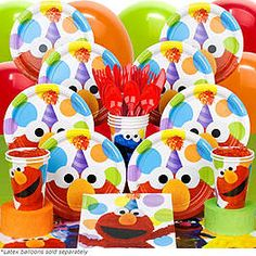 Elmo Birthday Party Supplies, Decorations & Ideas at Birthday in a Box