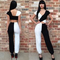 Womens-Lady-Jumpsuit-Rompers-Sexy-Playsuit-Bodysuits-Clubwear-Outfit-Bandage