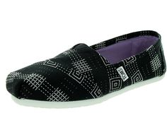 49516b21147 Toms Classic Black Canvas Embroidered 10006114 Womens 5. Black Casual ShoesToms  ...