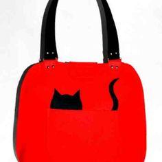 red&cat torebka na ramie z miękkiego filcu w KuferArt.pl