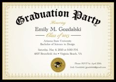 diploma graduation party invitations grad announcement digital college and high school by announceitfavors on - Graduation Reception Invitations