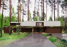 Lustrzany dom pod Warszawą Mirror house in the suburbs of Warsaw