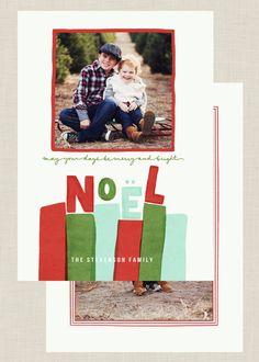 Holiday Card Template, Photoshop Template