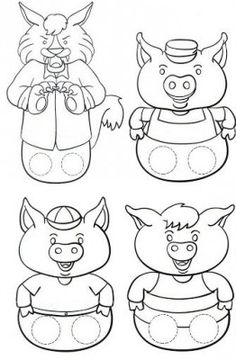 The Three Little Pigs Puppet Templates - the Three Little Pigs Puppet Templates , the Three Little Pigs Kindergarten Nana the Three Little Pigs Retelling Stick Puppets once Upon Three Little Pigs once Upon A Time In Gogoland Art For Kids, Crafts For Kids, Traditional Tales, Traditional Stories, Paper Puppets, Three Little Pigs, Finger Puppets, Book Crafts, Nursery Rhymes