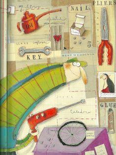 annalaura cantone Children's Book Illustration, Character Illustration, Illustration Children, Book Illustrations, Sculpture Painting, Collage, Installation Art, Childrens Books, Graphite