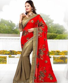 https://www.a1designerwear.com/sublime-red-and-chikoo-chiffon-saree