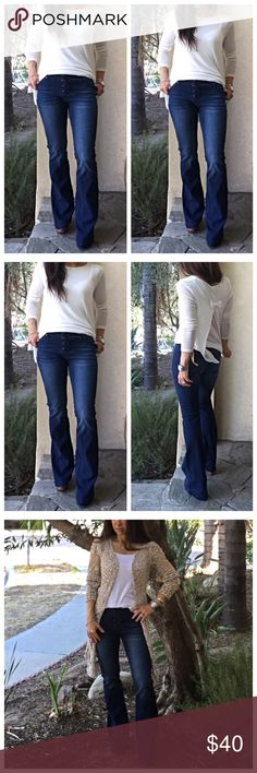 Bohemian chic wide leg jeans Boho chic lace up wide leg jeans these fit amazing inseam various from 31 to 35 PLEASE Use the Poshmark new option you can purchase and it will give you the option to pick the size you want ( all sizes are available) BUNDLE and save 10% ( no trades price is firm unless bundled) Jeans Flare & Wide Leg