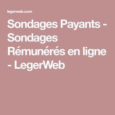 Sondages Payants - Sondages Rémunérés en ligne - LegerWeb