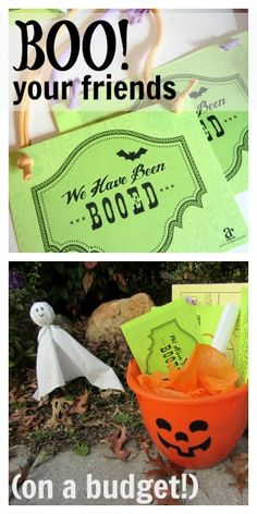 how to BOO! your friends for halloween (on a budget) -- halloween giving
