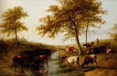 Cattle Resting By A Brook [Thomas Sidney Cooper] Oil Painting Reproduction | Artwork For Sale