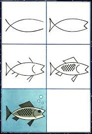 how to draw a fish for kids - Google Search