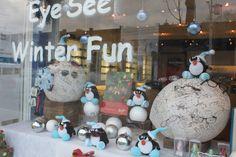 Eye See Winter Fun Eyedentity Window Display #eyewear #merchandising