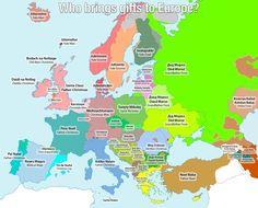 ¿Quién le lleva a los europeos sus regalos en Navidad?