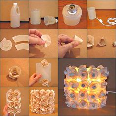Make A Beautiful Rose Lamp From Recycled Plastic Bottle Best Out Of Waste