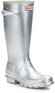 outlet locations for sale Hunter Metallic Round-Toe Rain Boots outlet online shop discount fashion Style clearance new KTUz3kF