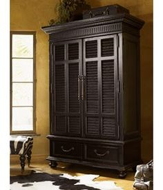 British Colonial Bedroom Ideas | The Executive Hudson Armoire is made for the refined tastes of today ...