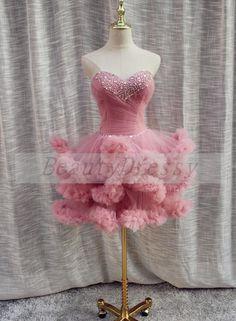 Short Graduation Dresses, Cute Homecoming Dresses, Prom Dresses 2016, Formal Dresses, Drag Dresses, Feather Dress, Pink Dress, Wedding Styles, Party Dress