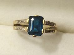 Hey, I found this really awesome Etsy listing at https://www.etsy.com/listing/223877555/vintage-blue-topaz-ring-14-carat-london