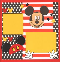 This is a 2 page 12 x 12 inch layout using EK Success Disney line paper and and Mickey Embellshment. SVG die cut by Miss Kate's Cuttables. Paper Bag Scrapbook, Album Scrapbook, Disney Scrapbook Pages, Scrapbook Sketches, Scrapbook Page Layouts, Scrapbook Supplies, Scrapbooking Ideas, Bridal Shower Scrapbook, Wedding Scrapbook