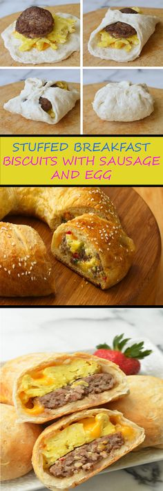 Start your busy days off with a hefty dose of protein with these Sausage Egg and Cheese Stuffed Breakfast Biscuits. Make a batch of these hearty stuffed breakfast biscuits and enjoy a wonderful breakfast all week long!