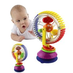 Baby Rattle Toys Tricolor Multi-touch Rotating Ferris Wheel Suckers Toy Months Newborns Creative Educational Baby toys - Kid Shop Global - Kids & Baby Shop Online - baby & kids clothing, toys for baby & kid Toddler Toys, Kids Toys, Infant Toddler, Baby Activity Gym, Baby Sensory Toys, Ideal Toys, Baby Shop Online, Musical Toys, Developmental Toys